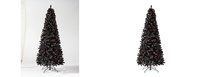 Christmas tree complex clipping path
