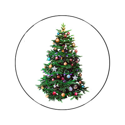 clipping path Christmas tree