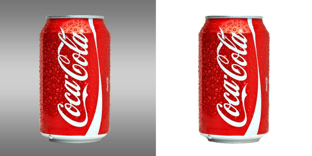 coca cola simple clipping path service